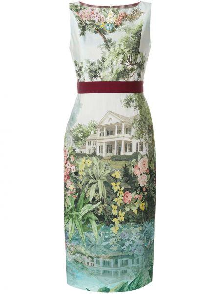 Платье миди с цветочным принтом приталенное Antonio Marras