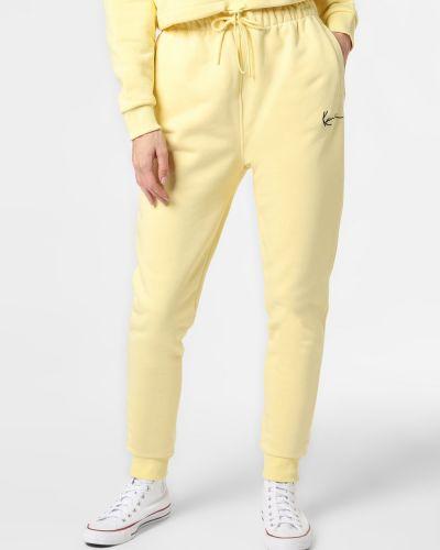 Żółte spodnie dresowe Karl Kani