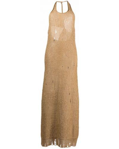 Трикотажное вязаное платье макси с вырезом Mrz