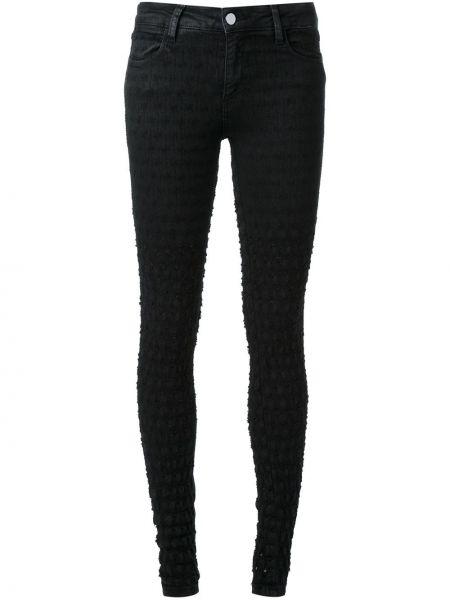 Потертые черные джинсы-скинни с пайетками Brocken Bow