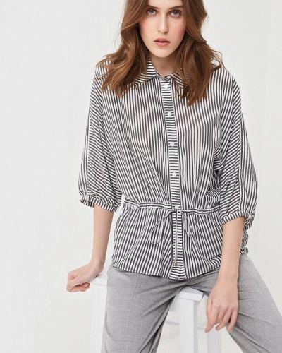 Блузка с коротким рукавом серая турецкий Lusio