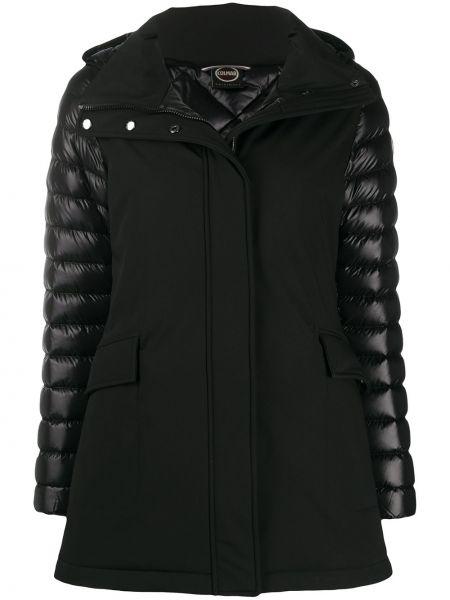 С рукавами черная куртка с капюшоном с воротником с перьями Colmar
