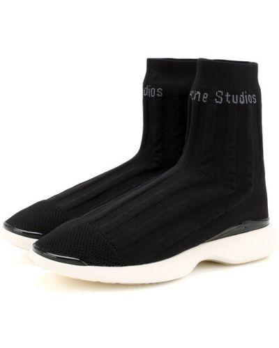 Белые высокие кроссовки Acne Studios