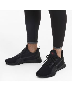 Спортивные черные высокие кроссовки сетчатые для бега Puma