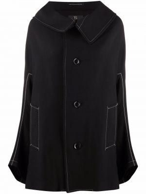 Черное пальто на пуговицах Y's