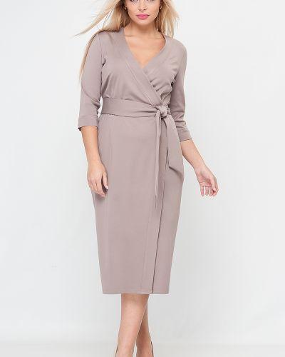 Платье миди с V-образным вырезом с запахом с поясом Lacywear
