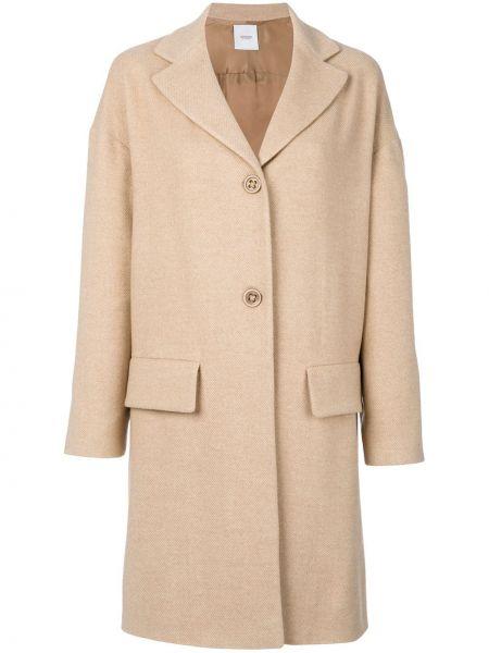 Шерстяное пальто с капюшоном на пуговицах Agnona