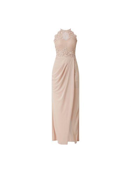 Różowa sukienka wieczorowa kopertowa bez rękawów Lipsy