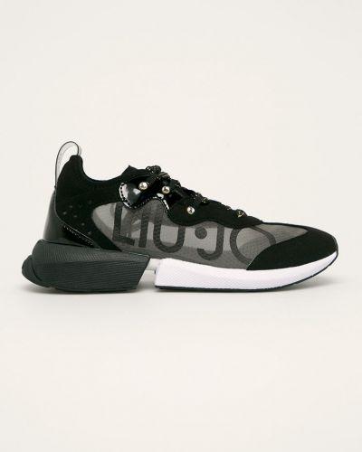 Черные текстильные кроссовки Liu Jo