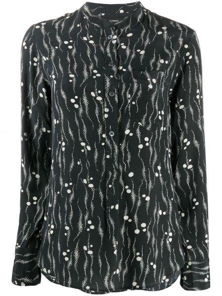 Шелковая рубашка - черная Isabel Marant