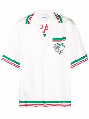Шелковая рубашка - белая Casablanca