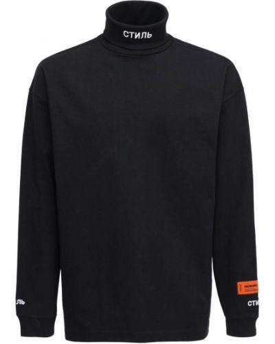Bawełna bawełna czarny koszula z kołnierzem Heron Preston