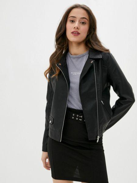 Кожаная черная кожаная куртка Defacto