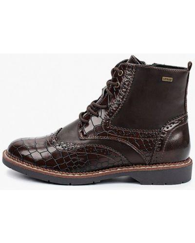 Коричневые ботинки осенние S.oliver