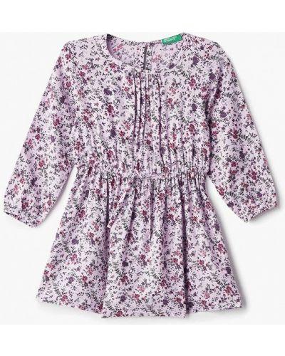 Фиолетовое платье повседневное United Colors Of Benetton