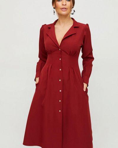 Красное платье-рубашка Karree