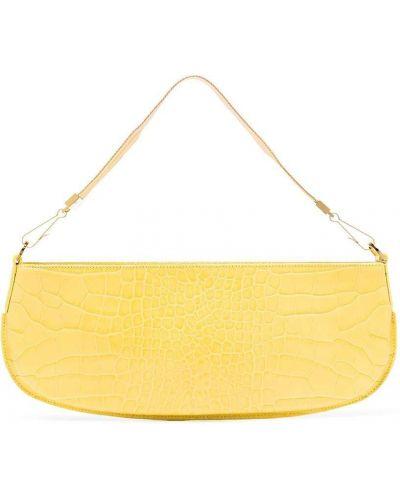 Złota kopertówka - żółta By Far