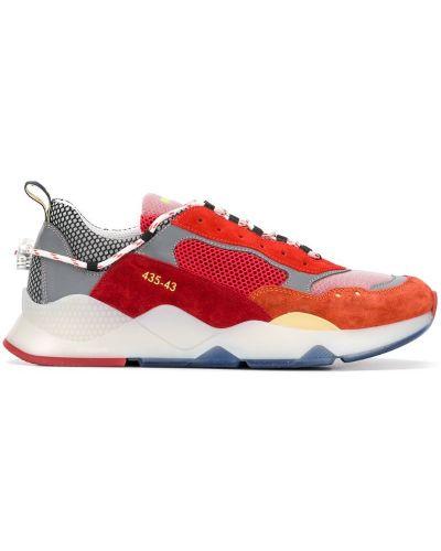 Кроссовки на шнуровке - красные Brimarts