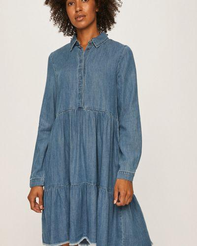 Джинсовое платье однотонное свободного кроя Only