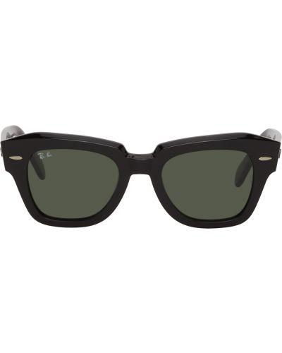 Czarne okulary skorzane Ray-ban