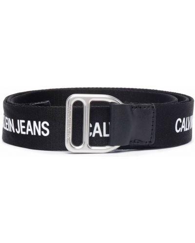 Ремень с логотипом - черный Calvin Klein