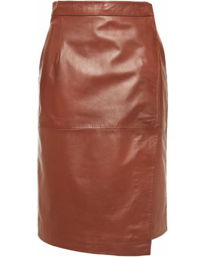 Кожаная юбка с карманами на крючках Muubaa
