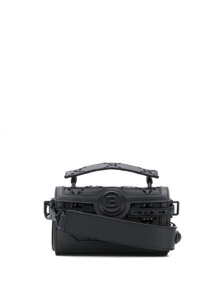 Skórzana torebka mini z uchwytem Balmain