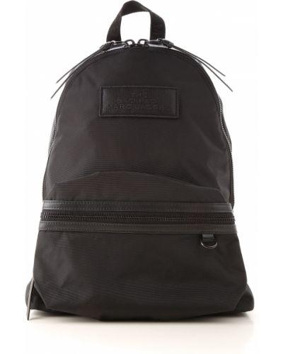 Czarny plecak z kieszeniami Marc Jacobs