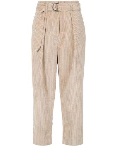 Укороченные брюки вельветовые брюки-хулиганы Andrea Marques