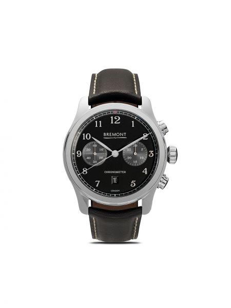 С ремешком черные часы механические круглые c сапфиром Bremont