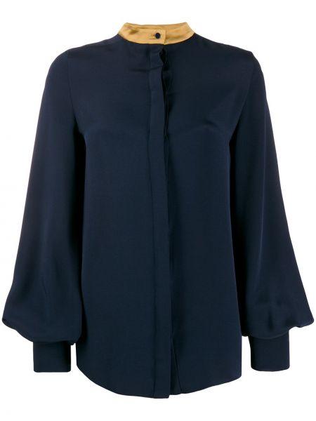 Блузка шелковая приталенная Roksanda