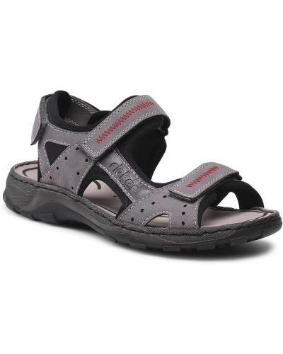 Sandały casual - szare Rieker