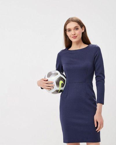 Синее платье футляр Sartori Dodici