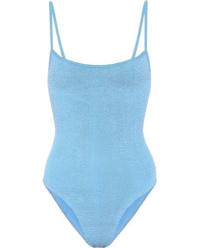 Нейлоновый синий купальник Hunza G