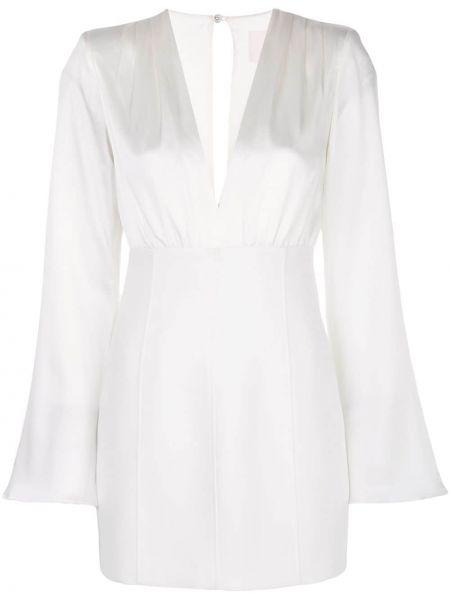 Платье с V-образным вырезом шелковое Cinq À Sept