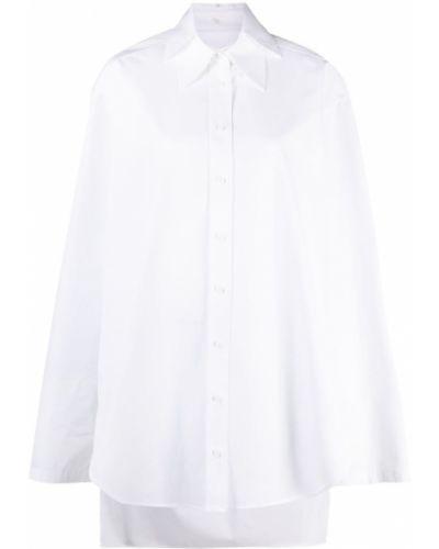 Хлопковая белая рубашка оверсайз Krizia