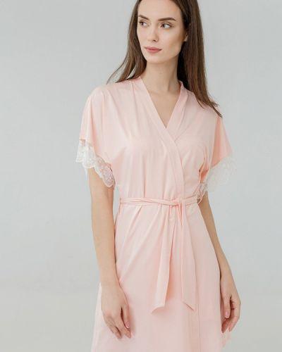 Розовый домашний халат Ora