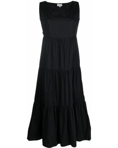 Черное платье без рукавов с вырезом Woolrich