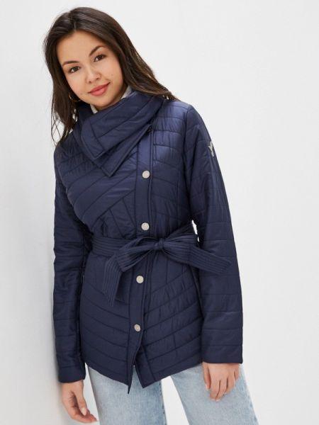 Теплая синяя утепленная куртка Odri Mio