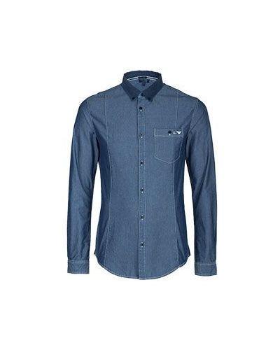 Синяя рубашка Armani Jeans