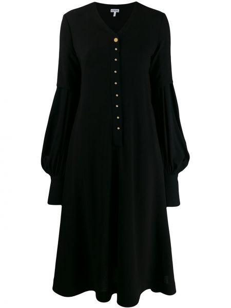 Платье на пуговицах с V-образным вырезом Loewe