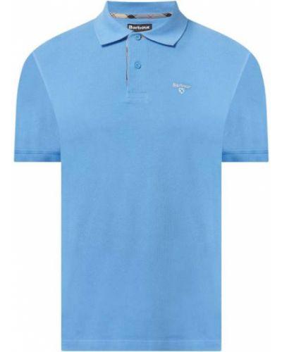 Niebieski t-shirt bawełniany Barbour