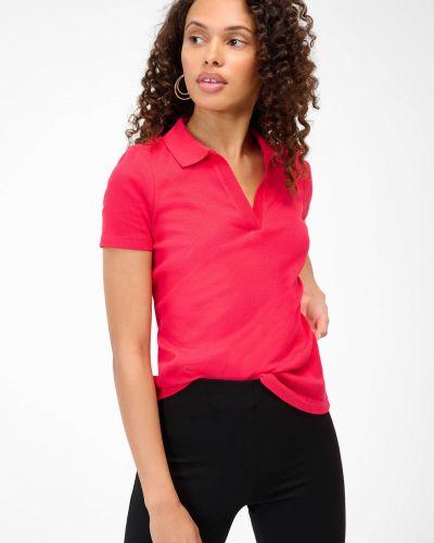 Czerwona koszulka prążkowana Orsay