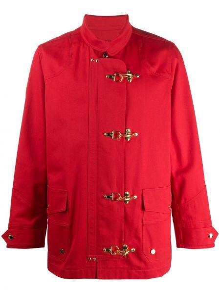 Klasyczny płaszcz bawełniany z długimi rękawami Casablanca