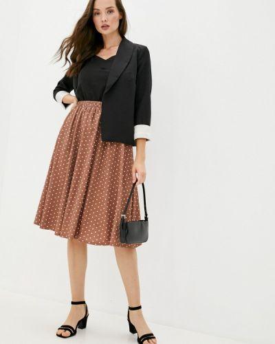 Костюмный черный юбочный костюм Trendyangel