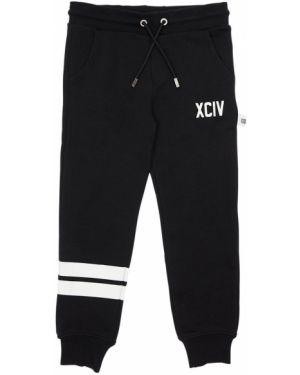 Хлопковые спортивные брюки с завязками с принтом Gcds