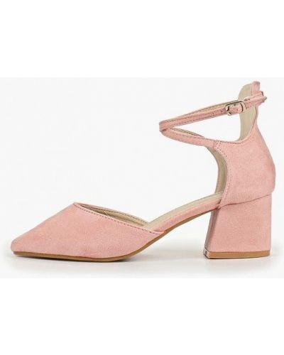 Туфли на каблуке розовый Fersini