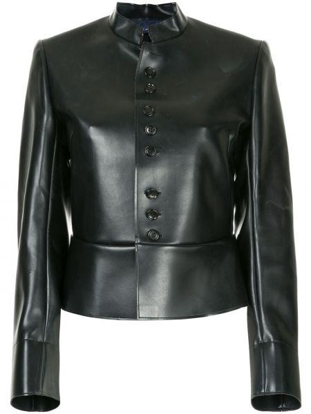 Черная кожаная куртка винтажная Comme Des Garçons Pre-owned