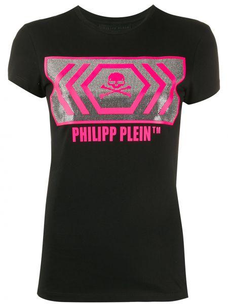 Топ с леопардовым принтом с принтом Philipp Plein