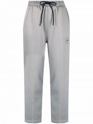 Укороченные спортивные брюки - серые Adidas By Stella Mccartney
